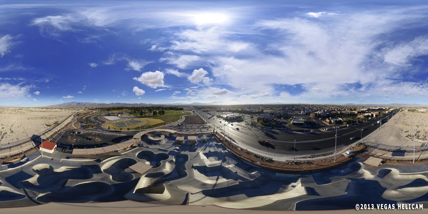 360° Aerial Panorama:  Skate Park at Craig Ranch Regional Park