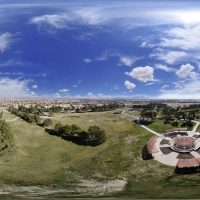360° Aerial Panorama:  Central Plaza at Craig Ranch Regional Park